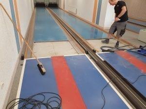 Kegelbahn Platten einsetzen 1